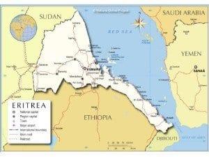 Mappa politica Eritrea