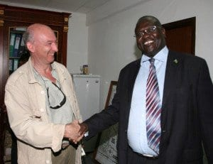 con riek machar juba (sud sudan) 1-2-2011