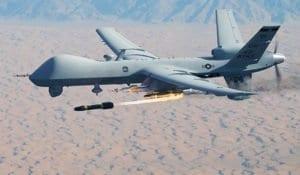 Reaper mentre lancia un missile hellfire