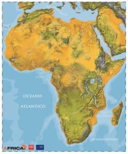 Mappa Africa fisica 2016