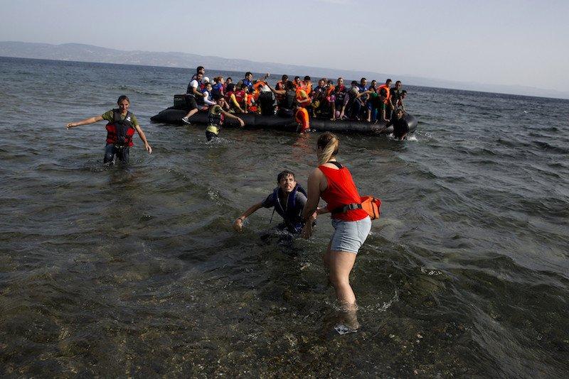 Migranti in arrivo in Europa