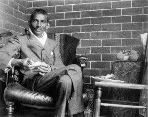 Gandhi ai tempi del suo soggiorno in Sudafrica