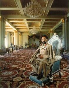 Haile Selassie nella sala del trono