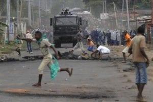 Manifestazioni di protesta a bujumbura