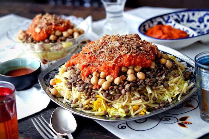 Koshari, piatto vegetariano d'Egitto