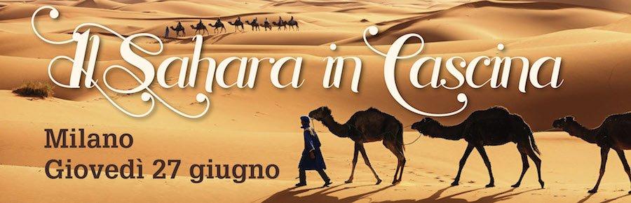 Banner serata Sahara a Milano