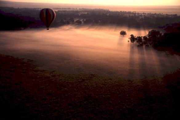 Africa safari mongolfiera